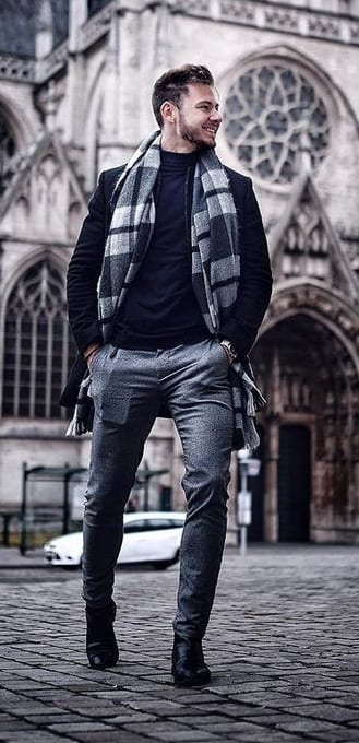 Plaid Scarf to add to your Winterwear