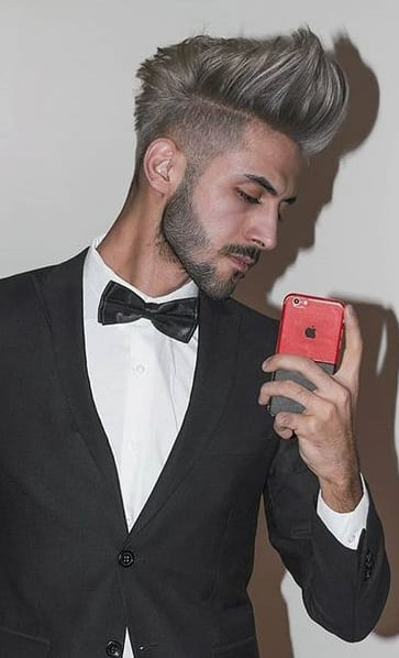 Pompadour Hairstyle look for Men to try this New Year
