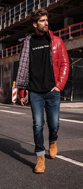 Rocking Red Puffer Jacket for Men- Must have Puffer Jacket this Winter