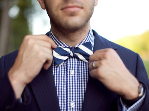 Blue-And-White-Bow-Tie