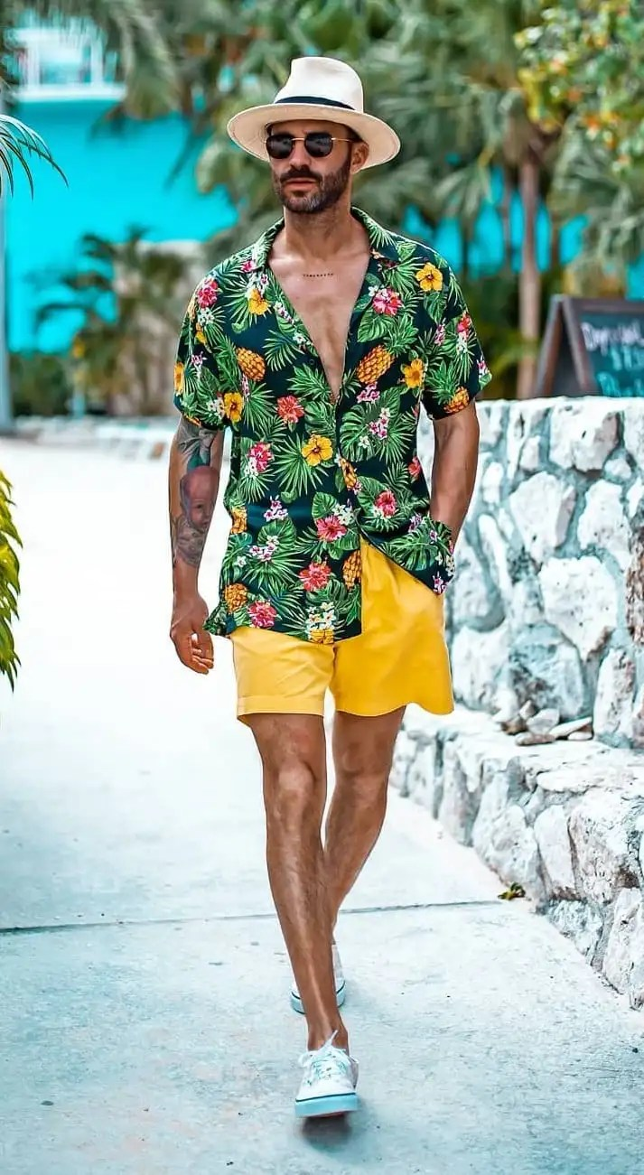 Pool Party Outfits for Groom