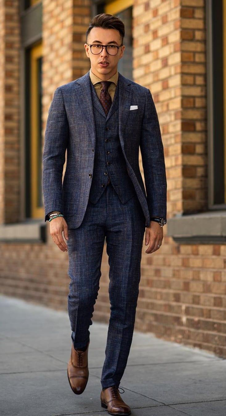 Blue Business Suit Ideas for March
