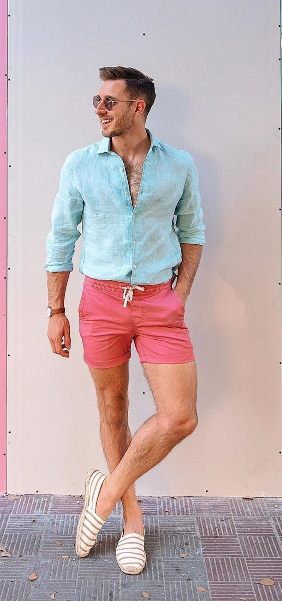 Linen Shirt And Shorts Outfit to Rock this Summer Season