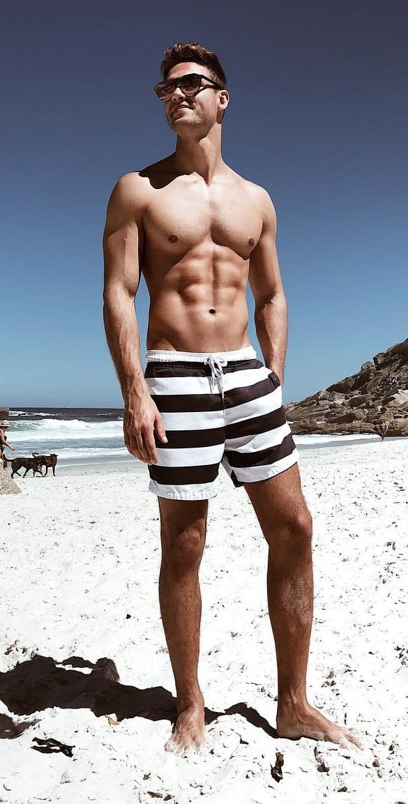 Swim shorts outfit for men