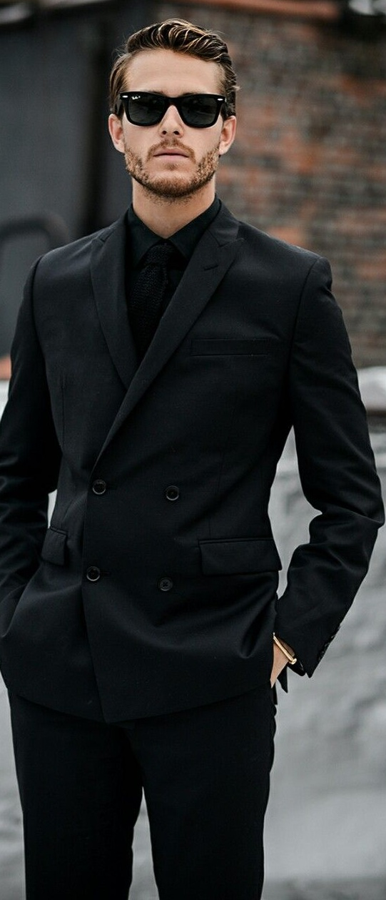 Black Funeral Suit Outfits