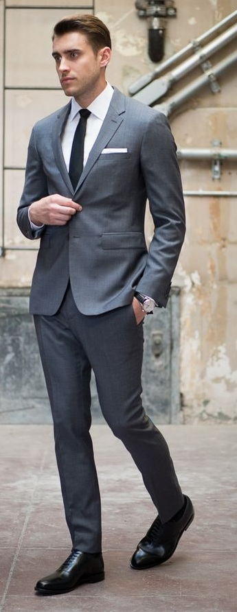 Grey Suit Outfit for Funeral