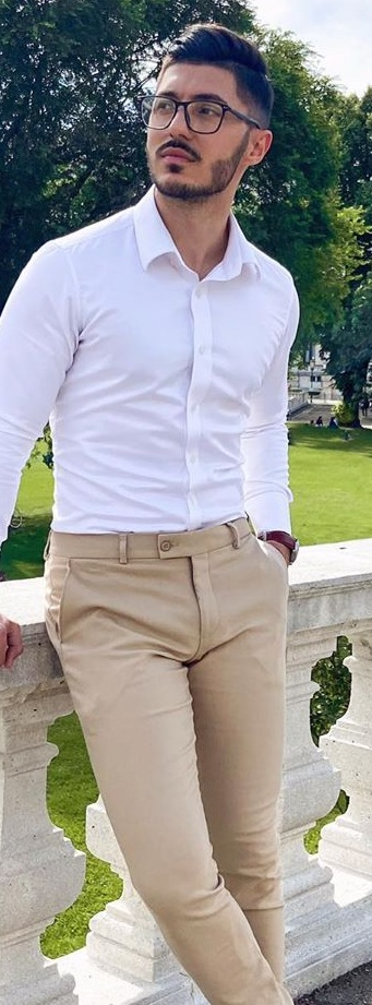 White Dress Shirt and Dress Pants Outfit Ideas