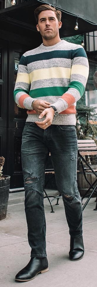 Long Sleeve T- Shirt Outfit Ideas for Men