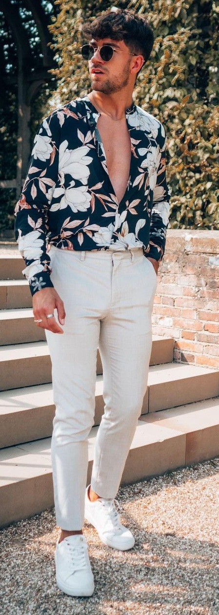 Floral Shirt Outfit Ideas for Summer