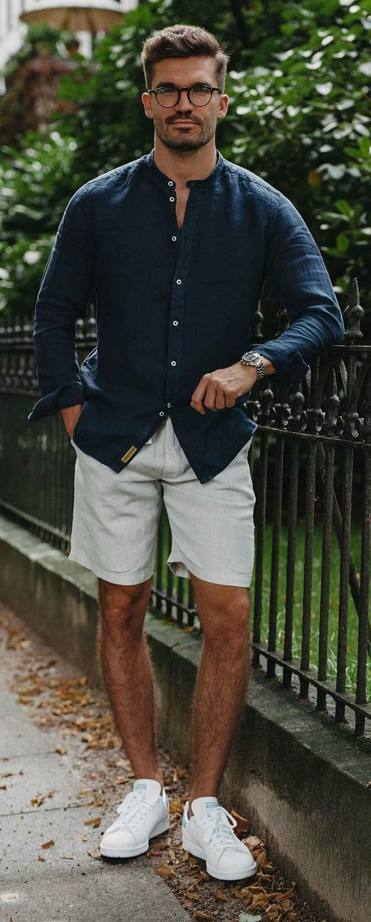 Linen Shirt Outfits for Spring Summer