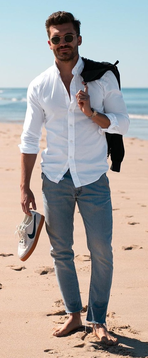 Casual and Comfy Beach Vacation Look