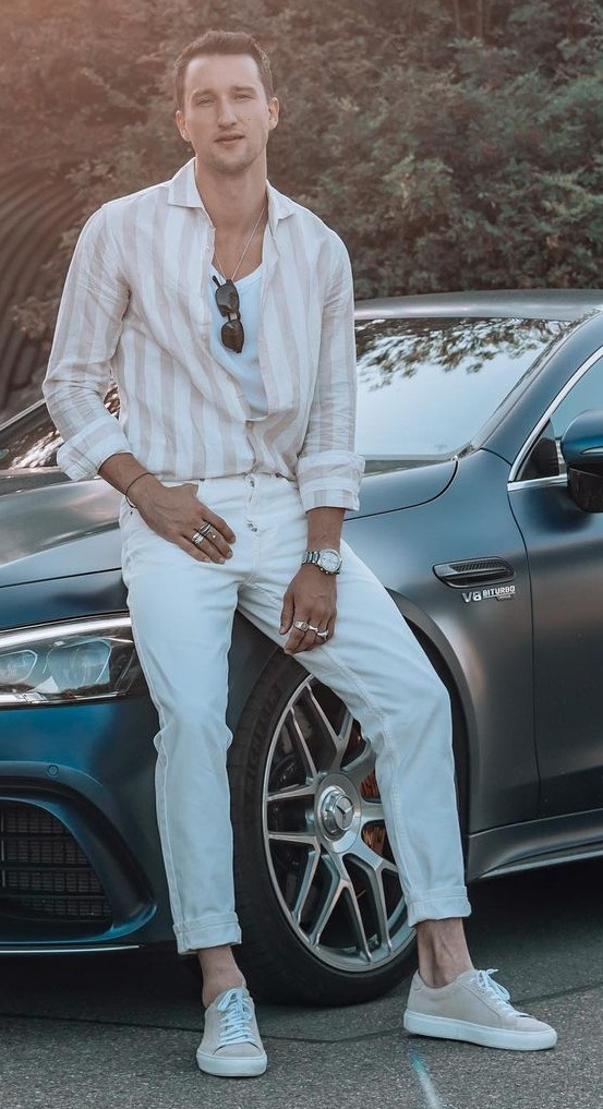 Mens White Pant Outfit Ideas 2021