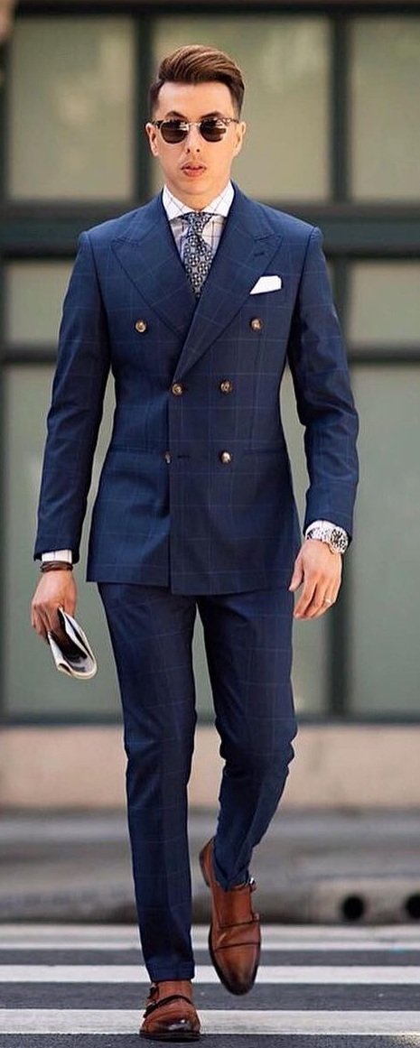 Mens Blue Suit Outfit- Timeless Fashion
