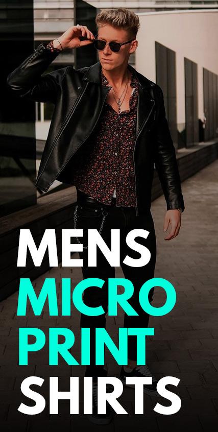 Mens Micro Print Shirts