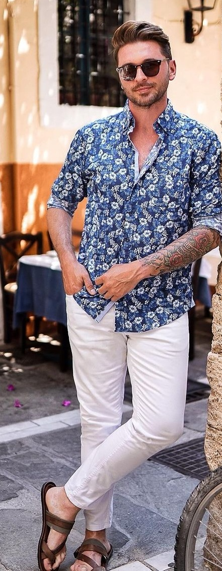 Floral Shirt Outfit For Summer