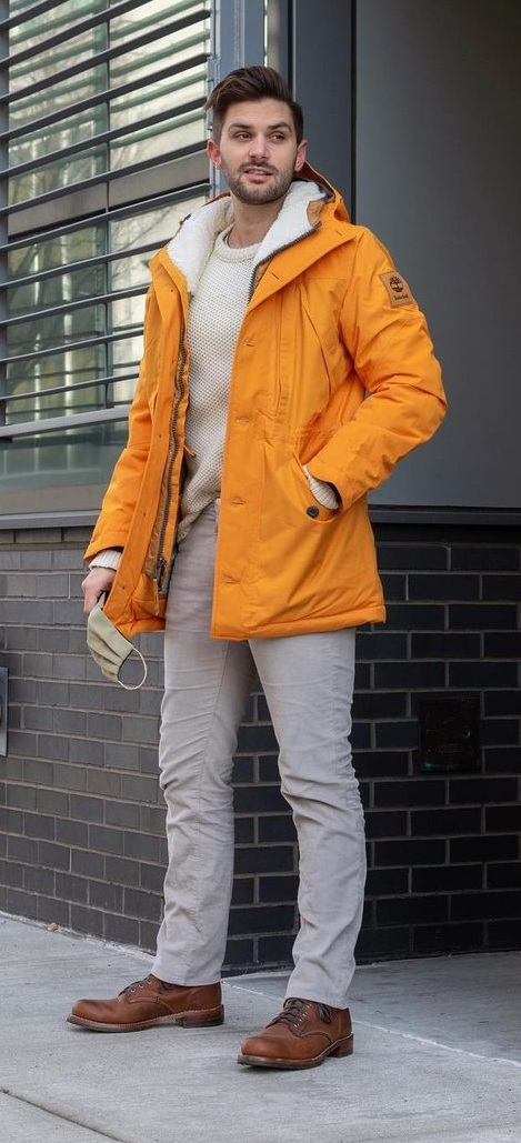 Carrot Orange Color Jacket- Sweater-Trouser- Outfit-for-fall