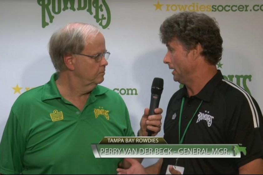 Great38's Halftime Interview with Rowdies GM Perry Van der Beck