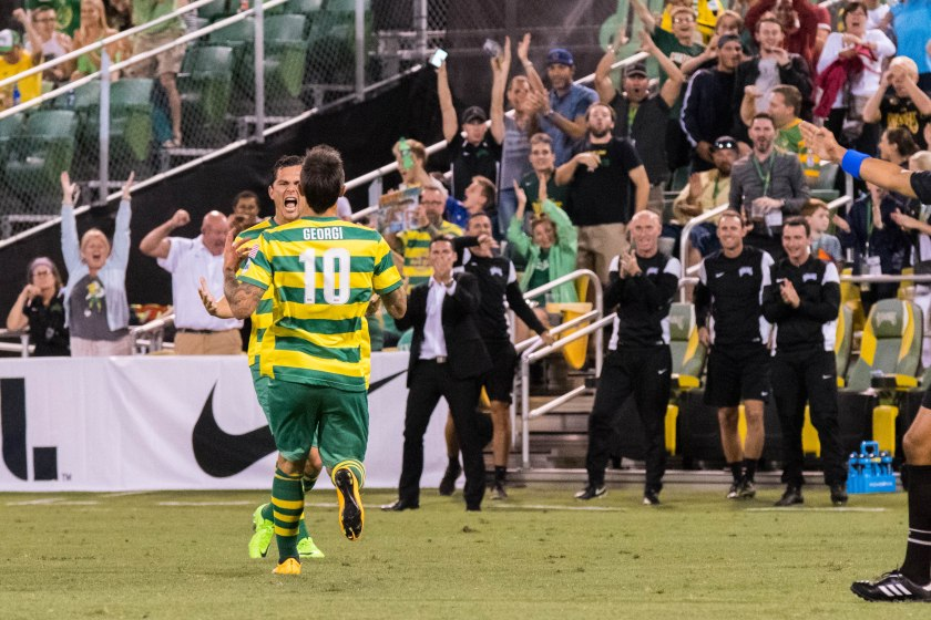 Hristov Propels Rowdies to 2-0 Win on Historic Night