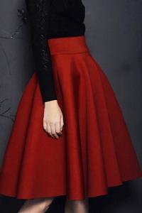 Choies red skirt