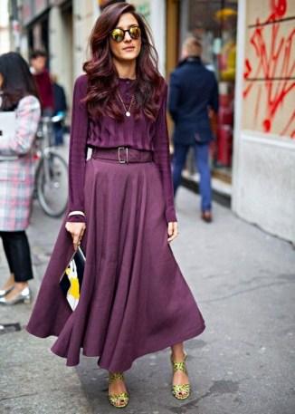purple monochromatic look