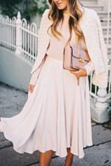 light pink monochromatic look