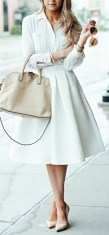 white monochromatic look