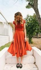 monochromatic look orange