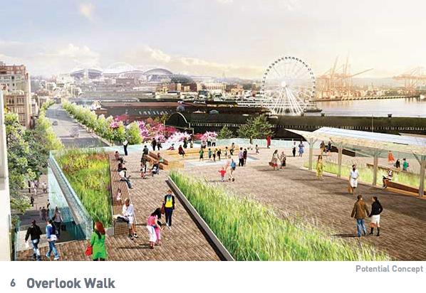 Seattle Waterfront Concept Overlook Walk