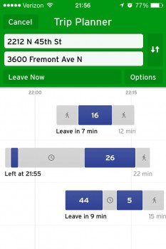 Transit App Trip Planner