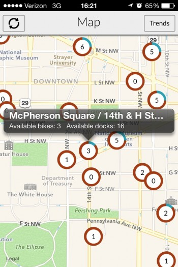 Capitol Bikeshare Map