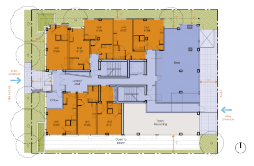 Ground floor plan view of the project, courtesy of DPD.