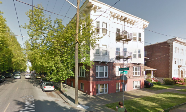 Historic Capitol Hill apartment with no parking, courtesy of Google Streetview.