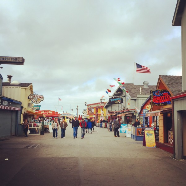 Fisherman's Wharf, a classic carnival pier, in Monterey.