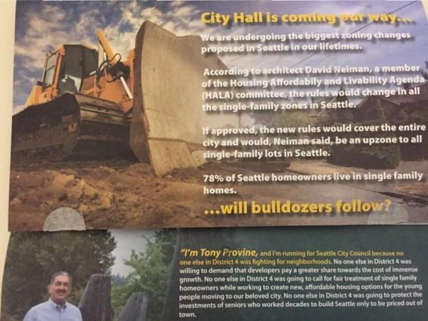 Tony Provine political mailer