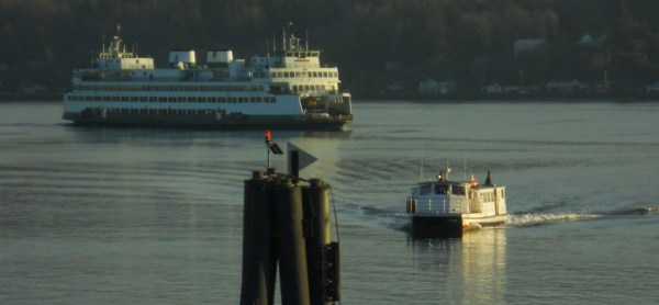 Ferries are critical links in Puget Sound's transportation network. Photo by the author.