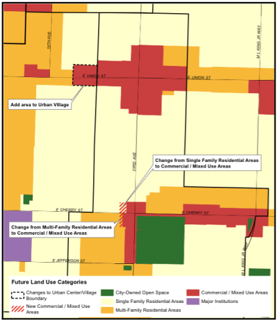 Proposed change to FLUM for 23rd & Union-Jackson Residential Urban Village (City of Seattle)