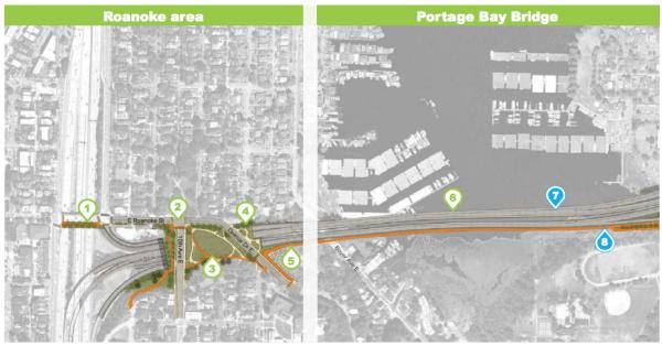 Roanoke and Portage Bay Bridge SR-520 segements. (WSDOT)