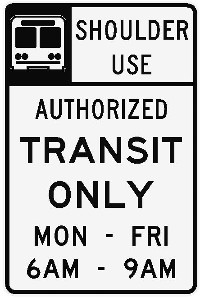 New transit-only sign. (Community Transit)