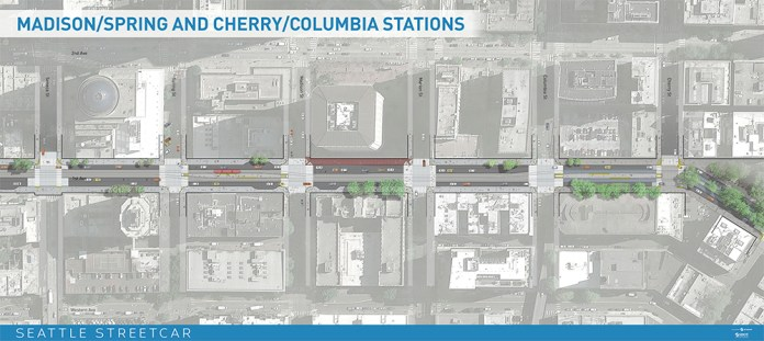 Madison/Spring & Cherry/Columbia stations (click for larger version)