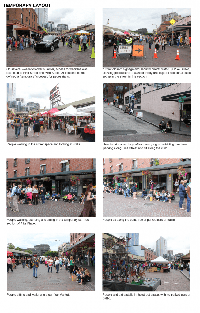 Temporary layout of Pike Place on a weekend in summer by Sarah Oberklaid.