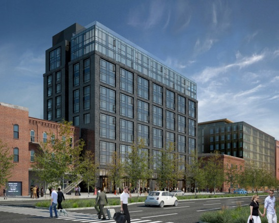 The proposed 11-story building at 316 Alaskan Way S, (Weber Thompson GBD)