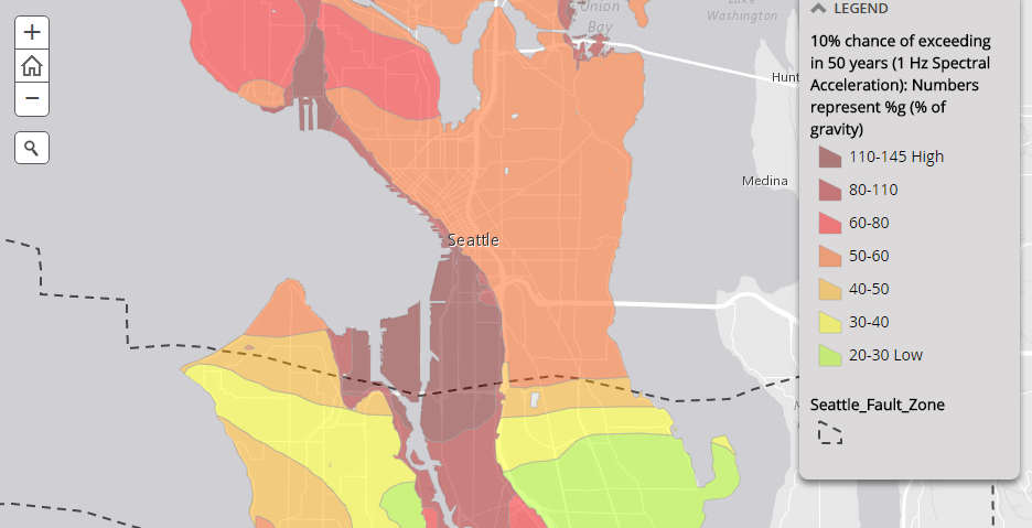 Map Of The Week Natural Hazards In Seattle  The Urbanist