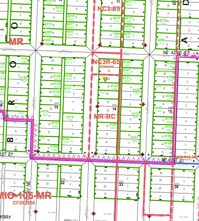Current zoning for the Brooklyn Ave NE block. (City of Seattle)