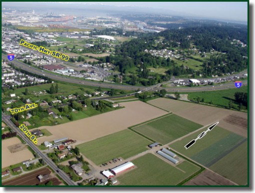 This is the existing I-5 and SR-167 interchange.