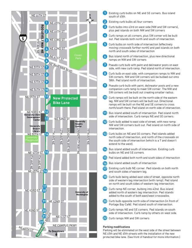 Corridor improvements planned for Roosevelt Way NE. (City of Seattle)