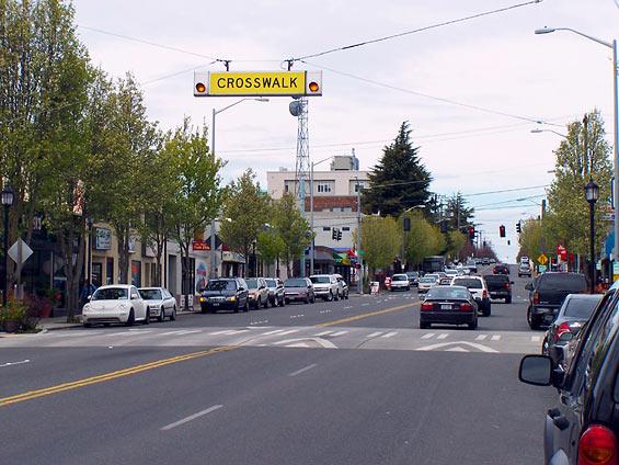 Raised crosswalk. (City of Seattle)