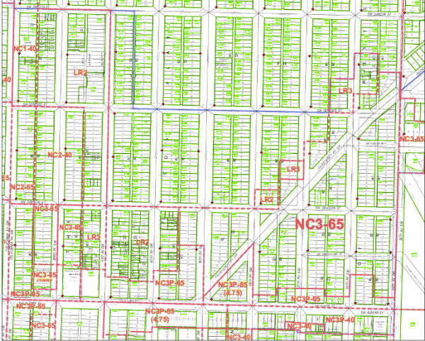 West Seattle's NC-85 zones are clustered around SW Alaska Street. (DPD Map 137)