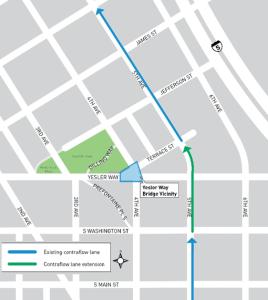 Contra-Flow Transit Lane Map (SDOT)