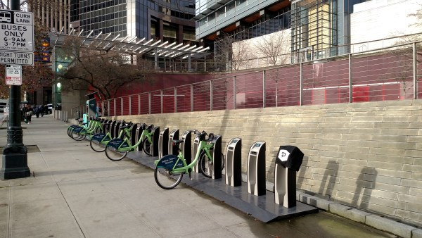 The Pronto station sits right outside of City Hall. Hopefully the council votes to keep it.