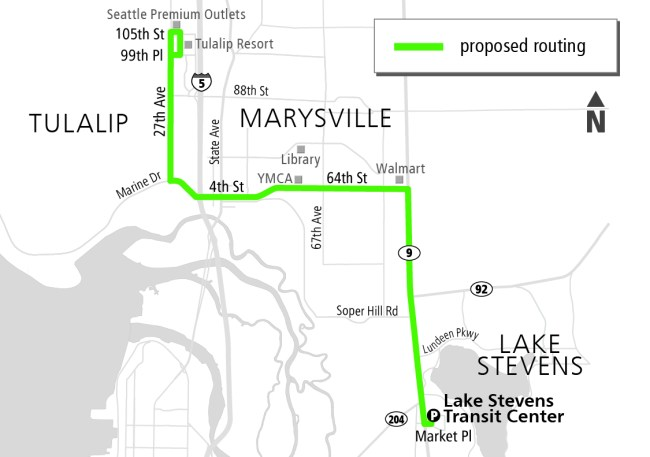 New Route 209 proposed for Fall 2016. (Community Transit)